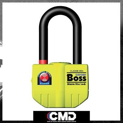 Oxford Motorcycle Security BIG Boss Alarm Brake Disc Lock 16mm Thatcham Approved • 65.99£