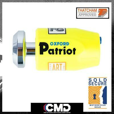 Oxford Motorcycle Security Patriot Brake Disc Lock Thatcham Approved OF40 • 38.99£