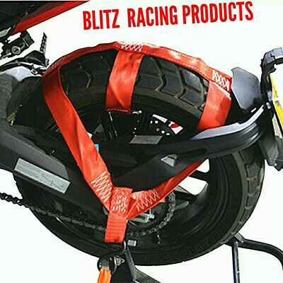 Motorcycle Rear Wheel Tie Down Strap RED -Excellent Quality • 19.99£
