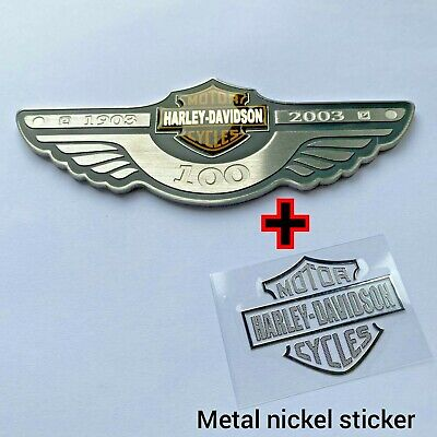 HARLEY DAVIDSON 3D Stainless Steel Badge Stickers Motorcycle Body Tank Emblems • 29.99£