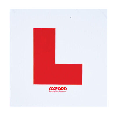 Oxford L Plate Kit Motorcycle Motorbike Scooter Front & Rear Plates Plus Fixings • 7.99£