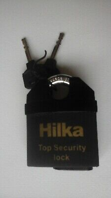 Hilka 65mm All Weather Security Padlock With 2 Keys 71800065 Collectable Lock • 7.99£