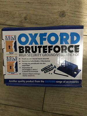 Oxford Brute Force Motor Bike Wall Or Ground Anchor  Never Out Of Box • 10£
