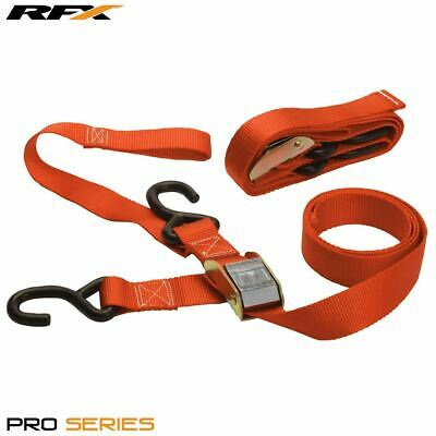 RFX Heavy Duty 1.5  Motorcycle Tie Down Strap (Orange) With Carabiner Clip • 19.99£