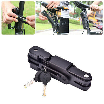 Folding Bicycle Cable Lock Steel Bike Security Anti-Theft Combination MT Road UK • 8.46£