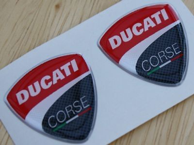 Ducati Corse Pair Of 3D Domed Badges 2010 Style 30mm • 2.25£