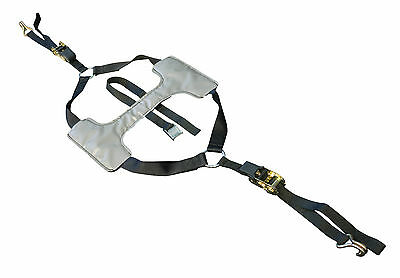 Tyre Fix Motorcycle Supermoto Road Tie Down Trailer Ratchet Single Strap System • 48.49£