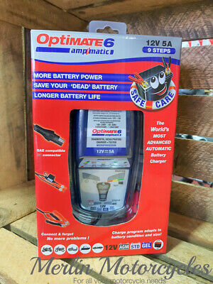Optimate 6 Ampmatic Car Van Boat Motorhome Leisure Battery Charger Optimiser 12v • 99.95£