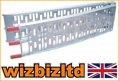 Large Motorcycle FOLDING Ramp 280mm Tyres Width With 340 Kgs Load PDSRAMP04 • 68.45£