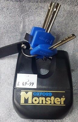 *sale* Of31 3 Key Oxford Monster Gold Series Heavy Duty Chain Padlock Lock Only • 43£