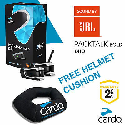 Cardo Scala Rider PACKTALK BOLD Duo Twin Set - JBL Speakers UK STOCK • 419.95£