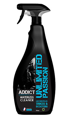 Unlimited Passion - ADDICT Waterless Cleaner & Microfibre Cloth - Motorcycle • 19.99£