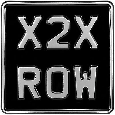 6.5x6.5 Novelty Black And Silver Kids Car Motorcycle Pressed Number Plate Metal • 12.95£