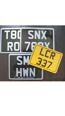 Black And Silver Motorcycle Number Plate (The Best) • 14.99£