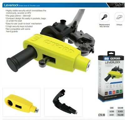 Oxford Products Lever Lock - Yellow • 13.99£