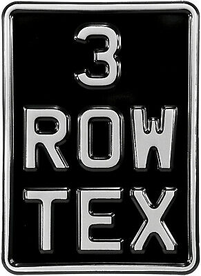 5x7 3 Row Black Silver Pressed Number Plate Text Kids Motorcycle Metal Aluminum • 12.95£