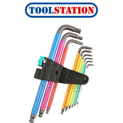 Wera Ball End Multi Colour Hex Key Set • 25.98£
