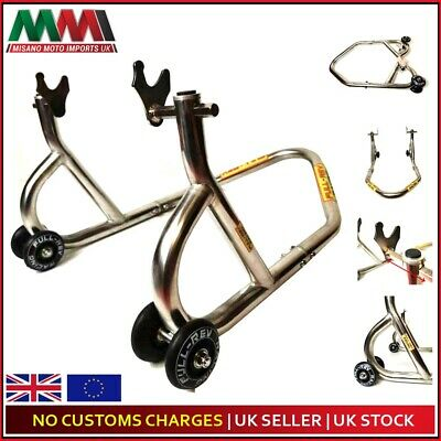 FULL REV RACING Pro Motorcycle Paddock Stand Rear Stainless STL For BMW S1000RR • 74.99£