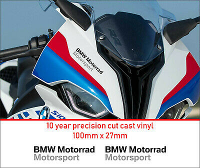 BMW Motorrad Motorsport Premium Decals Stickers 10 Year Vinyl  Motorcycle • 5.99£