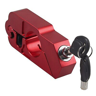 Handlebar Throttle Grip Lock Motorbike Motorcycle Security Lock RED - Uk Seller • 19.99£