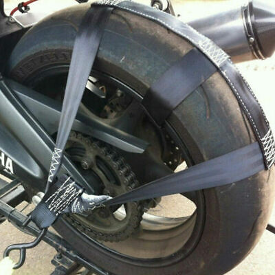Practical Strong Motorcycle Transport Tie-Down Rear Wheel Polyester WebbingStrap • 13.11£
