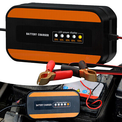 Intelligent Motorcycle Car Battery Charger Motorbike Automatic Smart Trickle PS • 10.88£
