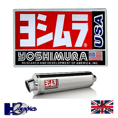 Yoshimura 3D Motorcycle Exhaust Sticker Heat Resistant Aluminium 100 X 65 Decal  • 3.65£