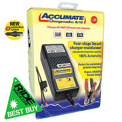 Accumate 6Volt & 12Volt Motorcycle Jetski Car Battery Optimiser Optimate Charger • 49.99£