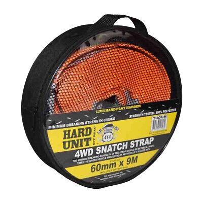 6 TON SNATCH STRAP 4WD OFF ROAD RECOVERY 60mm X 9M INC DRYING BAY TUGUM • 32.15£