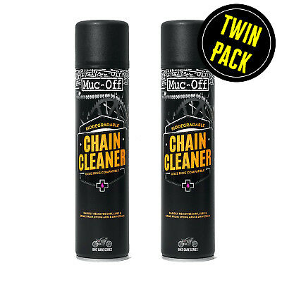Drive Chain Cleaner Muc Off Motorcycle Motorbike Spray Aerosol 2 X 400ml Pack • 16.98£