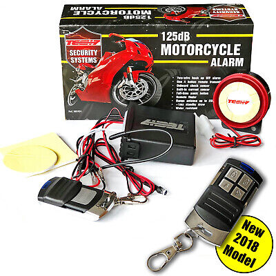 Motorbike Bike Motorcycle Alarm & Remote Control DIY Easy Fit - Wires 125dB 12v • 21.99£