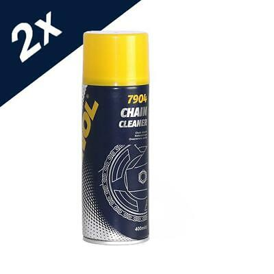 2x400ml MANNOL Chain Cleaner For Bikes Motorbikes ATV's Motorcycles • 7.19£
