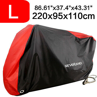 Large Waterproof Motorcycle Bike Motorbike Cover Outdoor Breathable Vented Blue • 12.25£