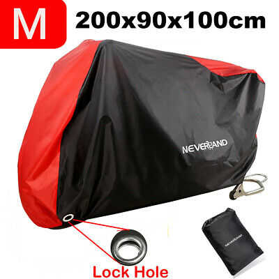 Waterproof  Motorcycle Motor Bike Moped Scooter Cover Outdoor UV Rain Protector • 10.99£
