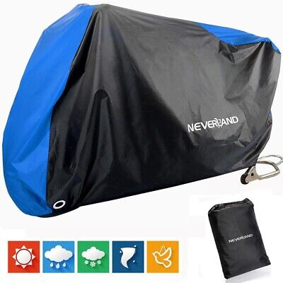 Heavy Duty Waterproof Motorcycle Cover Bicycle Bike Rain Sun Protector Motorbike • 11.89£