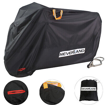 Heavy Duty Motorcycle Bike Cover Waterproof Outdoor Vented Rain Dust Protector • 16.99£