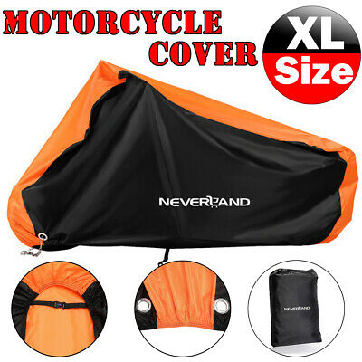 XXXL Motorcycle Motorbike Cover Waterproof Outdoor Rain Snow Protector Storage • 14.99£