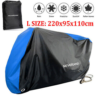 XXXL Motorcycle Bike Cover Waterproof Vented Motorbike Outdoor Rain UV Protector • 15.99£
