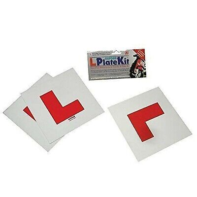 Oxford L Plate Kit Oxford Motorcycle Scooter Kit Includes 2 Rigid & 1 Self Ad... • 27.99£