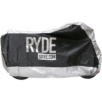 Ryde Medium Silver Waterproof Motorcycle Cover Bike/motorbike Rain Protector M • 10.99£