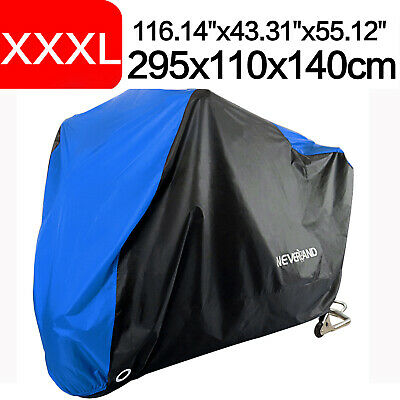 XXXL Motorcycle Motorbike Cover Waterproof Outdoor Scooter Protector Vented Blue • 14.99£