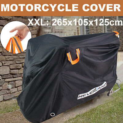 Large Heavy Duty Waterproof Motorcycle Motorbike Cover Outdoor Dust UV Protector • 16.99£