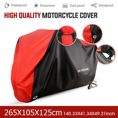 XXL Waterproof Motorcycle Motorbike Cover Outdoor Vented Rain Dust UV Protector • 13.89£