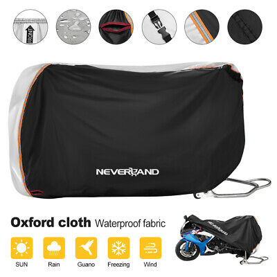 Large Heavy Duty Motorcycle Bike Cover Waterproof Rain Dust UV Protector Scooter • 15.99£