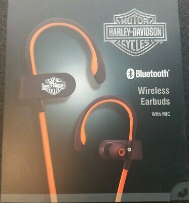 Harley Davidson Motorcycle Bluetooth Wireless Earbuds With Mic 94500185 • 43.46£