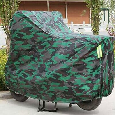 Large Camouflage Heavy Duty Waterproof Vented Motorcycle Motorbike Rain Cover UK • 12.89£