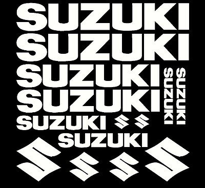 Suzuki Replacement Sticker Set Motorcycle Tank Fairings Other Makes Available • 5.75£