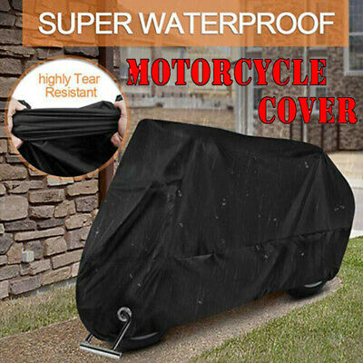 Motorcycle Cover Waterproof Motorbike Protector Heavy Duty Outdoor Protection • 12.34£