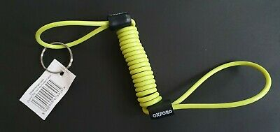 Oxford Minder Motorcycle Disc Lock Cable Yellow Motorbike Security Reminder New • 2.99£