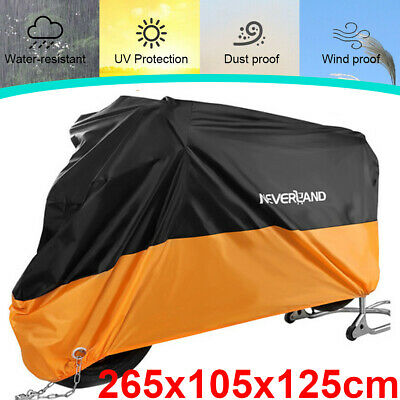 XXL Large Motorcycle Scooter Cover Waterproof Outdoor Vented Rain Dust Protector • 13.99£